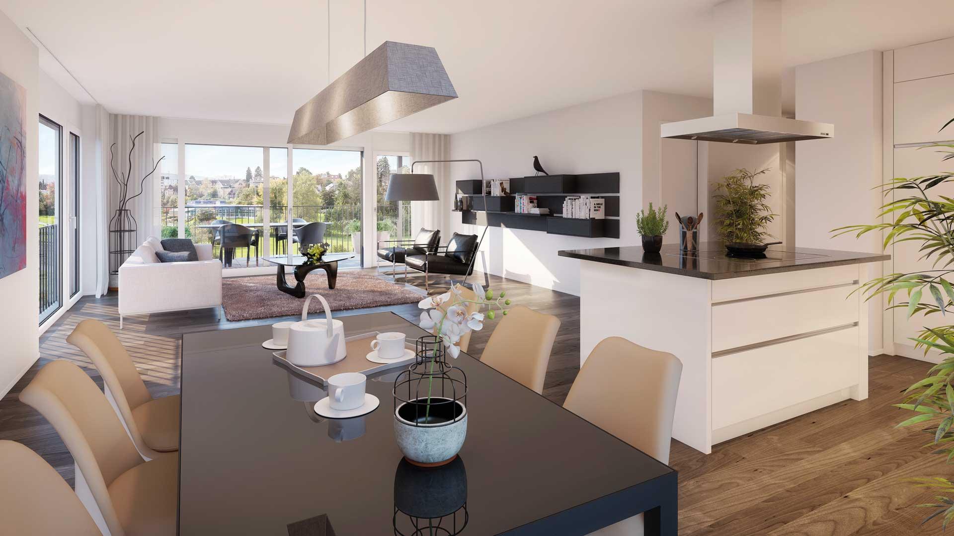 lindenbuck br ttisellen visualisierung lindenbuck. Black Bedroom Furniture Sets. Home Design Ideas